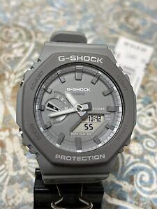New Casio G-Shock Analog-Digital Gray Resin Strap Mens Watch GA2110ET-8A