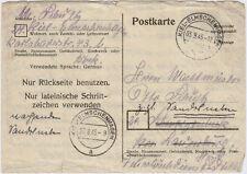 BIZONE, 6 Pfg. GS-Postkarte ab KIEL-ELMSCHENHAGEN (Michel P 771 A a)