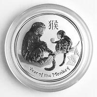 2016 1/2oz Australia .999 Silver Monkey Lunar Series II BU