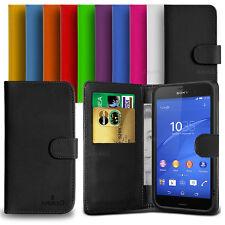 Custodia Case Flip Cover Pelle Portafogli Libro Per Sony Xperia Z3 + Pellicola