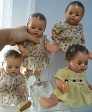 "4 Madame Alexander ""Quints"" Antique Dolls ,ea.11 3/8"" tall,Compo., Orig.Dresses"