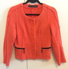 ZARA Women's Orange Blazer Jacket SZ S (MSRP $110)