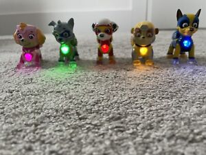Paw Patrol Light Up Mighty Pups- chase/Marshall/Skye/rubble/rocky