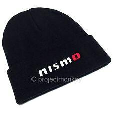 Nismo KWA05-50D10-BK Logo Black Beanie Hat Skull Cap JDM Genuine