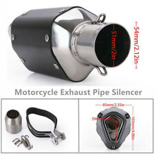 38-51mm Stainless Steel Universal Motorcycle Short Exhaust Muffler Pipe Silencer