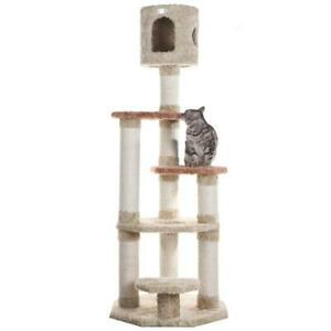 Premium Multi-Level Cat Tree with Top Playhouse by Armarkat