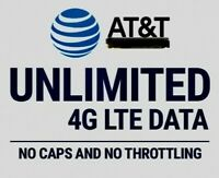 ATT 4G LTE Unlimited DATA UNTHROTTLED NO CAPS 100% Unlimited $99/Month