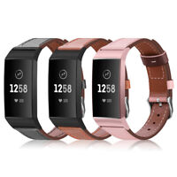 Genuine Leather Replacement Bands for Fitbit Charge 3 & Charge 3 SE