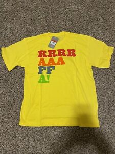 New With Tags 2009 Nike Rafa Nadal  Shirt Yellow Mens Size Large L 393388 749