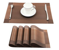 Placemats Set of 4 Heat Resistant Non-Slip Dining Table Mats Set Gift Washable