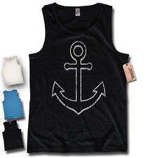 Tank Top - Anchor - Anchor Sailor Captain Pirate Old School Men's Shirt S-XXL
