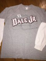 Chase Dale Earnhardt Jr #8 NASCAR Racing Budweiser Long Sleeve Shirt Men's SZ XL