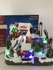 """Holiday Living Animated Christmas Village Music & Lights """"Ryan's Sled & Ski�"""