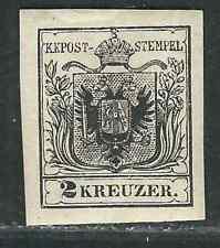 Austria. Stamps 2c Mi 2a III 2Kr Black Machine-made Paper MHR VF 1854 SCV $1750