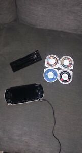 Sony PSP PlayStation Portable Console Bundle, 4 Games, Memory Card And Charger