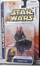 Saesee Tiin Moc Figura De Star Wars Clone Wars Saga Colección 2003 tarjeta sellada caja