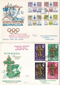 SS4469 Bermuda 14 different First Day Covers; 1937 onwards