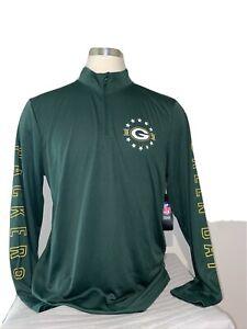 NFL Green Bay Packers 1/4 Zip Pullover Long Sleeve Shirt Men's Size MEDIUM