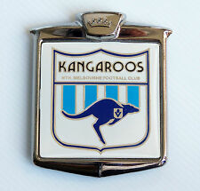 RARE VINTAGE VFL NORTH MELBOURNE KANGAROOS FOOTBALL CLUB FOOTBALL CLUB CAR BADGE