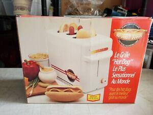 NIB Hot Diggity Dogger Combination Hot Dog & Bun Cooker Warmer Toaster Pop Up