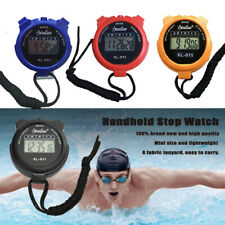 LCD Timer Electronic Digital Sport Stopwatch Date Time Alarm Counter Chronograph