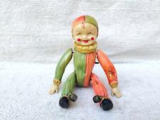 1920s Vintage Rolling Joker Clockwork Windup Celluloid Circus Toy Working Japan