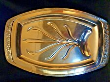 "1936 18"" ONEIDA COMMUNITY CORONATION MEAT PLATTER FOOTED SILVERPLATE VINTAGE"