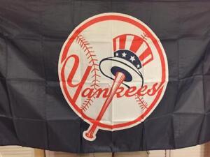 New York Yankees Banner Flag 3x5 ft MLB Top Hat Logo (1968-Present)