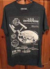 Star Trek Men's Small Cotton Blend T Shirt Gray