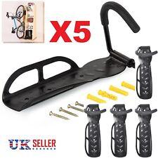 5x Steel Bike Rack Stand Storage Wall Mounted Hook Hanger Bicycle Holder Hanging
