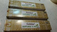 New Goloka Nature Nest masala Incense stick 6 boxes floral from India.
