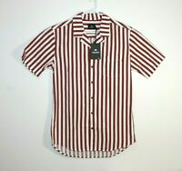 St Goliath Bob Fosil Striped S/S Shirt Men's Size Medium BNWT