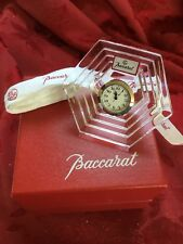 NEW NIB FLAWLESS Exquisite BACCARAT Crystal ORSAY Art Glass CLOCK Paperweight