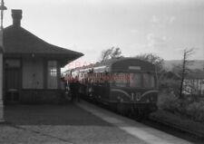 PHOTO  SUBURBAN UNIT EX 6.2PM ARROCHAR AT CRAIGENDORAN STATION WITH PASSENGERS D