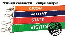 Printed and plain Lanyard - Personalised, custom,  plain or pre-text