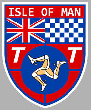TT ISLE OF MAN ILE DE MAN BIKER 100mmX80mm AUTOCOLLANT STICKER MOTO GP (IA071)