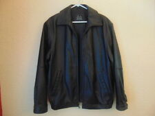 Men's Jos. A. Bank Excutive Collection Soft Black Leather Bomber Jacket-M