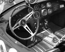 Cobra Roadster Interior  Vintage Classic GT Race Car Photo   (CA-0274)