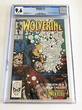 MARVEL COMICS Wolverine #19 CGC GRADE 9.6 White Pages 12/89 Tiger Shark & Kingpi