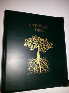 My Family Tree - History storage Binder ref Green with 2d 50 mm metal capacity