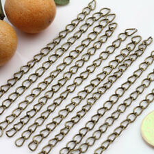 100 Extension Link Chain Tail Jewelry Making For Necklace Bracelet 5X3MM DIY