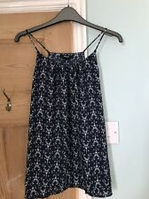 Esmara Eiffel Tower French Chic Strappy Top Navy Blue And White Size 12