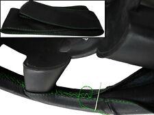 Para Mitsubishi Triton 05-14 Real De Cuero Negro volante cubierta verde Stitch