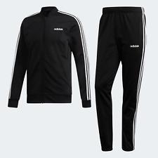 Adidas Originals Mens 3-Stripes Tracksuit black