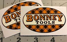 Bonney Tools Tartan Decals restore tool boxes vintage rat rod Set 2