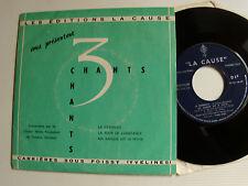 CHOEUR MIXTE PROTESTANT DE TRAVERS: La cévenole - 3 CHANTS - EP 1960 LA CAUSE D1