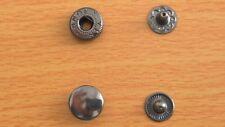 Boutons pression 40 sets 10mm métal noir charcoal boutons pression anorak