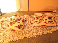 ROYAL ALBERT CHINA DISHES OLD COUNTRY ROSES TEAPOT SERVING TRAY COFFEE CUP MUGS