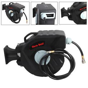 20M+2M Pro Workshop Garage Retractable Air Compressor Line Hose Reel
