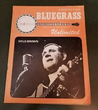HYLO BROWN cover Bluegrass Unlimited magazine August 1974